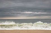 Seafoam Prints - Green Wave Print by Kevin Bergen