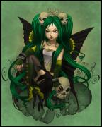 Anger Digital Art Posters - Green with Envy and Anger Poster by KimiCookie Williams