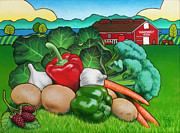 Lettuce Paintings - Greenbank Bounty by Stacey Neumiller