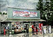 Country Store Posters - Greenbank Store Poster by Perry Woodfin