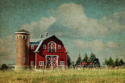 Red Barn Digital Art - Greenbluff Barn by Reflective Moments  Photography and Digital Art Images
