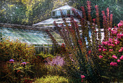 Garden Scene Framed Prints - Greenhouse - The Greenhouse Framed Print by Mike Savad