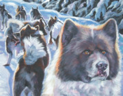 Rage Paintings - Greenland Dog by Lee Ann Shepard