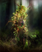Forest Digital Art - Greenman by Karen Koski