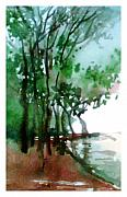 Anil Nene Metal Prints - Greens Metal Print by Anil Nene