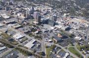 Triad Prints - Greensboro Aerial Print by Robert Ponzoni