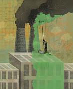 Greenwashing Print by Dennis Wunsch