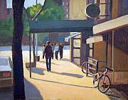 Greenwich Village Paintings - Greenwich afternoon by Tate Hamilton