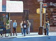 Greenwich Village Paintings - Greenwich Village folks by Tate Hamilton