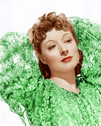 Incol Photo Framed Prints - Greer Garson In Photo By Clarence Framed Print by Everett