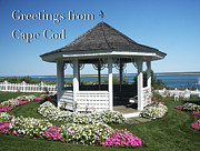 Gazebo Greeting Card Framed Prints - Greetings From Cape Cod Greeting Card Framed Print by Daphne Sampson