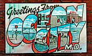 Ocean City Md Framed Prints - Greetings from OC Framed Print by Skip Willits