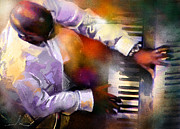 Greg Phillinganes Prints - Greg Phillinganes from Toto Print by Miki De Goodaboom