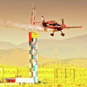 Spin Posters - Greg Poe Airshows at Reno 2010 Poster by Gus McCrea