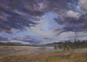 Gifts Drawings Originals - Gregg-claussen-afternoon-storm-lake-yellowstone by Gregg Claussen