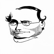 Breeding Posters - Gregor Mendel, Caricature Poster by Gary Brown