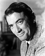 Peck Framed Prints - Gregory Peck In An Undated Portait Framed Print by Everett