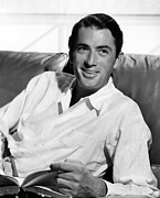 Peck Framed Prints - Gregory Peck In The Late 1940s Framed Print by Everett