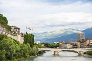 Rhone Alpes Metal Prints - Grenoble Metal Print by Marco Maccarini