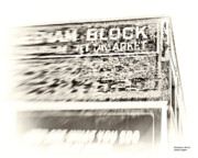Block Print Art Metal Prints - Gresham Block Calgary Metal Print by Jayne Logan Intveld