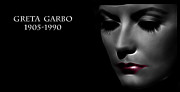 Superstar Metal Prints - Greta Garbo 1905 1990 Metal Print by Stefan Kuhn