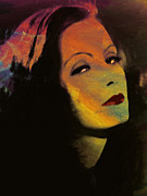 Facet Framed Prints - Greta Garbo Pop Art Framed Print by Stefan Kuhn