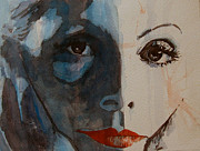 Watercolour Portrait Prints - Greta Print by Paul Lovering