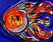 Tropical Fish Paintings - Gretchen Fish ... A New Return by J Vincent Scarpace