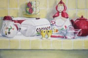 Teapot Paintings - Gretchen Wants a Cookie by Jane Loveall