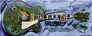 Gretsch Guitar Framed Prints - Gretsch Guitar Framed Print by John Gibbs