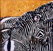 Wildlife Ceramics Metal Prints - Grevy Colt Metal Print by Dy Witt