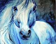 Marcia Baldwin Framed Prints - Grey Ghost Equine Framed Print by Marcia Baldwin