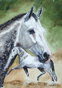 Trotting Paintings - Grey Prospect by Kristine Plum