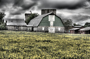 Barn Storm Prints - Grey Scale Print by JC Findley