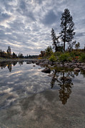 Spokane River Prints - Grey Skies Print by Reflective Moments  Photography and Digital Art Images