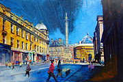 British Paintings - Grey Street Newcastle by Neil McBride