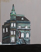 Robert Handler Prints - Grey Victorian Mansion-Montreal Print by Robert Handler