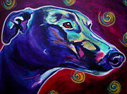 Dawgart Prints - Greyhound -  Print by Alicia VanNoy Call