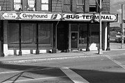 Greyhound Prints - Greyhound Bus Terminal Bangor Maine Print by John Van Decker