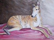 Racer Painting Framed Prints - Greyhound Number 2 Framed Print by George Pedro