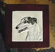 Dog Portrait  Ceramics - Greyhound Sabra by Phillip Dimor