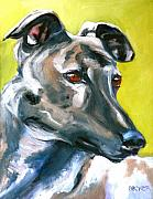 Print Card Prints - Greyhound Print by Susan A Becker