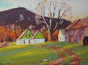 Berkshire Hills Posters Paintings - Greylock from Adams by Len Stomski