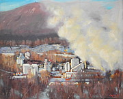 Quarry Paintings - Greylock from East Road by Len Stomski