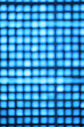 Grid Posters - Grid Of Blue Lights, Defocused Poster by Brian Stablyk
