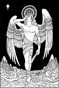 Grieving Angel Print by Caroline Jamhour