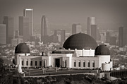 Socal . Framed Prints - Griffith Observatory Framed Print by Adam Romanowicz