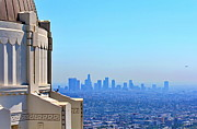 Griffith Metal Prints - Griffith Observatory Los Angeles Metal Print by Russ Harris