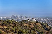Griffith Park Prints - Griffith Park Observatory And Downtown Los Angeles Print by Mark Harris