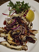 City Scene Photos - Griiled fresh Greek Octopus by David Smith